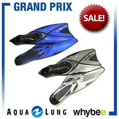 AQUA LUNG SPORT GRAND PRIX SNORKEL DIVING FINS FLIPPERS (x2) BY TECHNISUB NEW!