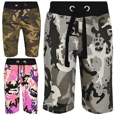 Kids Shorts Girls Boys Camouflage Chino Shorts Knee Length Half Pant 5-13 Years