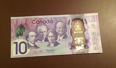Canada 2017 150th Anniversary Commemorative $10 Bank Note Polymer Bill - UNC