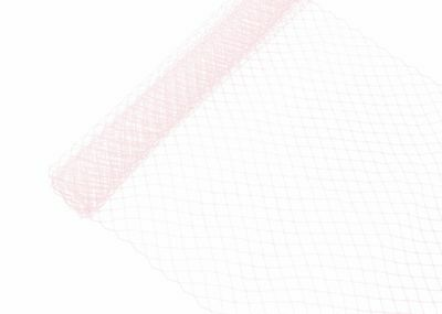 "Russian Birdcage Veil Millinery Netting 10"" Wide - Light Pink - Sold by the Yard"