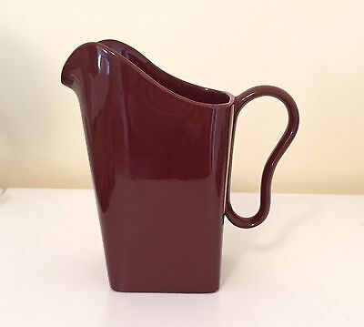 Franciscan Tiempo Brown Water Pitcher Mid Century Modern California Pottery