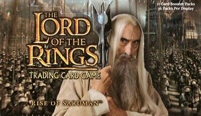 DECIPHER LOTR Lord of the Rings TCG : RISE OF SARUMAN COMPLETE 140-Card SET