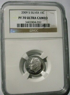 2009-S 10C Silver Proof Roosevelt Dime NGC PF70 Ultra Cameo