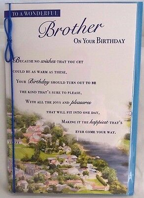 Brother Birthday Card Nice With Country Scene Lovely Verse By Bgc