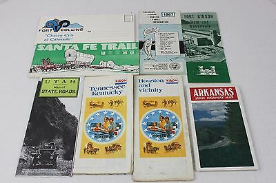 Vintage Maps and Outdoor Guides Fishing Camping - Lot of 9 Items