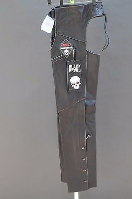 Black Brand Womens Temptress Biker Chaps X-Small New + Free Shipping Canada Usa!