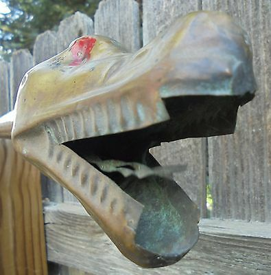 Antique Model-T Snake Horn - vintage, brass - shaking tongue Rat Rod