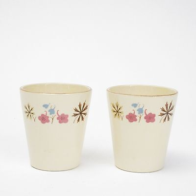 Franciscan Pottery Larkspur Set of Two (2) 6 oz tumblers Retro MCM