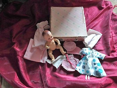 "American Character Tiny Tears  101/2""   Doll Box & Clothes"