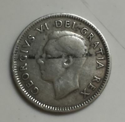 1948 Canada Circulated 10 Cents Silver dime - Foreign Coin
