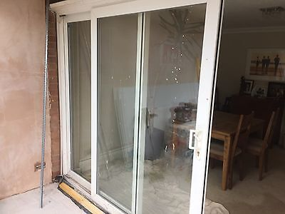 Upvc white sliding patio doors great condition for White sliding patio doors