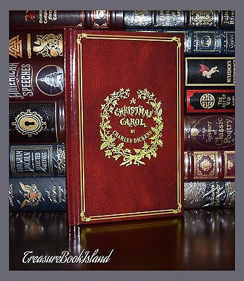 Christmas Carol by  Charles Dickens Illustrated John Leech New Deluxe Hardcover