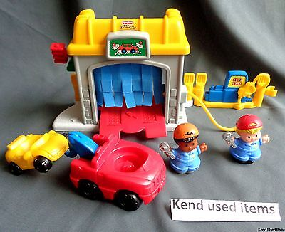 FISHER PRICE LITTLE PEOPLE auto garage autogarage Discovering Vehicles at Garage