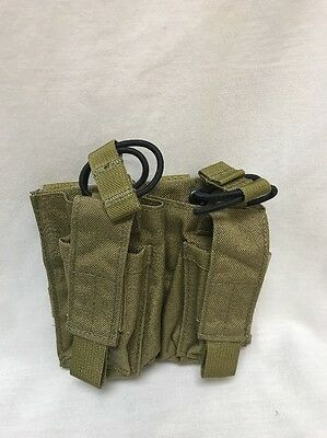 LBT-6011C Double Mike-4 / Pistol Mag Speed Draw Pouch Coyote Tan