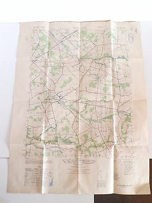 """Vintage 1947 Allentown New Jersey AMS Series Military Issue Aerial Map 29"""" x 22"""""""