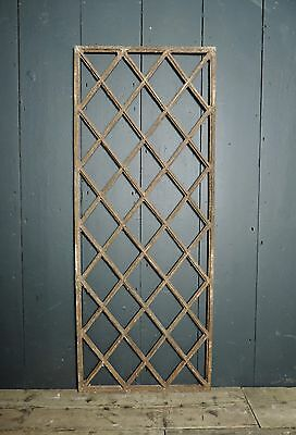 Victorian 19th Century Diamond Pattern Cast Iron Window