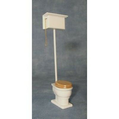 Dolls House Miniature 1:12th Scale High Level Toilet