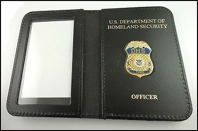 Federal Emergency Management Agency Mini Badge ID Case w/DHS & Officer Embossing