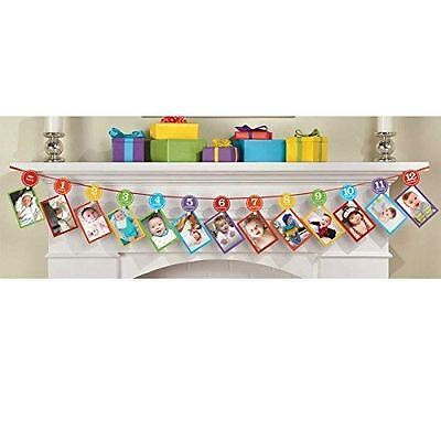 Amscan International 220277 3.65 m Rainbow 1st Birthday Photo Garland