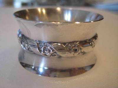Antique Vintage Wallace Sterling Aesthetic Floral Ribbon Flower Napkin Ring 5622