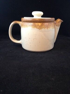 Vintage POTTERY CROCKERY TEAPOT McCoy 1418 USA Beautiful Glazing Crock Type