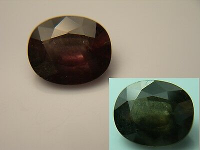 rare 2.17ct Color Change Garnet gem Pink Green Natural Tanzania untreated
