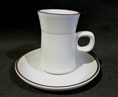 Denby Arabesque shape pale green Coffee  cup & saucer