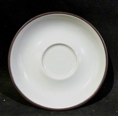 Denby Arabesque shape pale green saucer