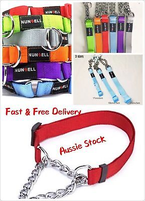 Adjustable Martingale Chain Choker Dog Training Chain 6 colours 3 Size S M L