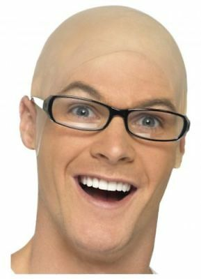 Rubber Bald Skinhead Wig Cap Costume Latex Dress Up Party Head Cover