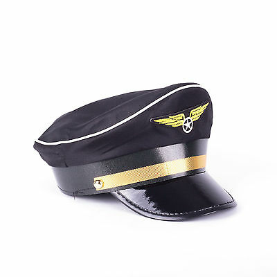 Pilot Aviator Hat Adult Costume Airline Occupation Uniform Fancy Costume Party