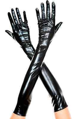 NEW Metallic Shiny Stretch Long Gloves Flapper Opera Glamour about 48cm 8 colors