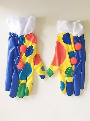 Clown Gloves Costume Accessories Fancy Dress Up Christmas