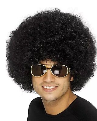 Smiffy/'s Deluxe Clown Disco 80/'s Hen Stag Night Curly Afro Wigs Wig Fancy Dress