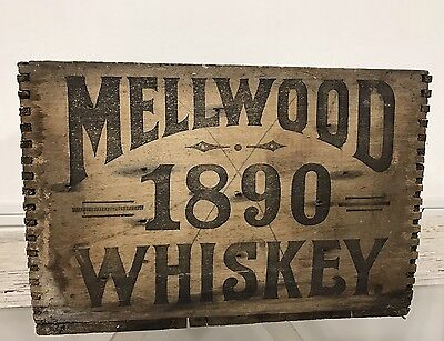 Antique 1890s Whiskey Crate RARE Pre Prohibition MELLWOOD Louisville Kentucky