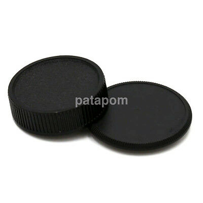 2PCS Body Lens Cap Cover (Front + Rear) For M42 42mm Screw Mount Camera AU