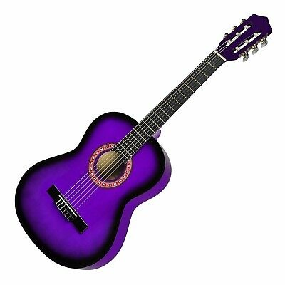 New Sanchez Classical Guitar for Kids 3/4 Size Beginner Nylon Strings (Purple)
