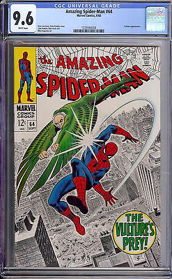 Marvel Amazing Spider-Man Comic #64 CGC 9.6 Vulture Appearance Silver Age WP NM+