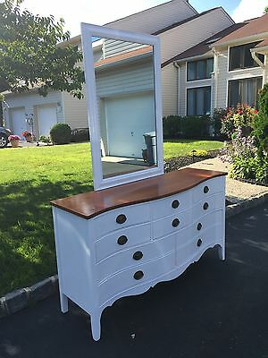 Refinished Dresser, Mirror and Twin Headboard