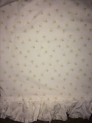 Simply Shabby Chic Petite Rose White/pink/green 2Pc Twin Sheet Set W/ruffle