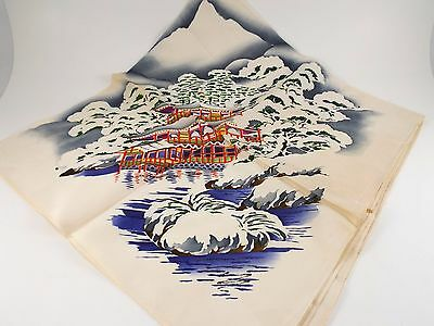 Vintage WWII Souvenir Chinese Silk Scarf / Wrap