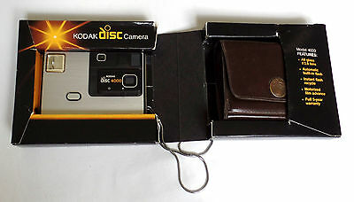 Vintage Kodak Disc 4000 Camera Original Strap & Fitted Case with box