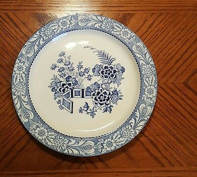 Wood & Sons WINCANTON BLUE Dinner Plate WOODS WARE 1920
