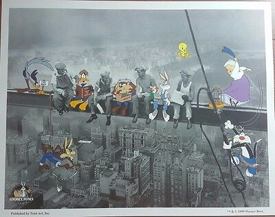 """Warner Bros. """"Lunch Break"""" Limited Edition Giclee Looney Toons CoA Bugs Bunny"""