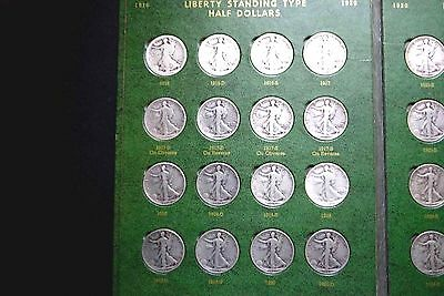 Complete Set of 1916-1947 Silver Half Dollars  Total 65 Different