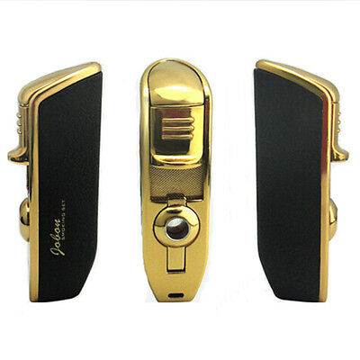Metal Triple Flame Cigar Fill Butane Gas Cigarette Torch Lighter