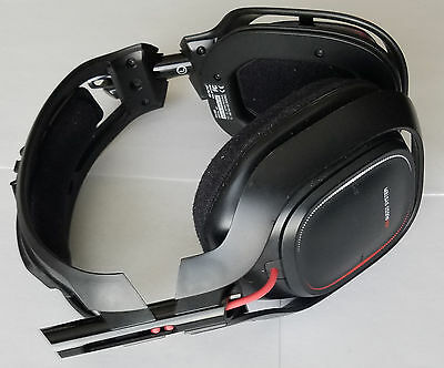 Black Astro A50 Wireless Gaming Headset - NO MIXAMP PRO & MISSING EARBUD CUSHION