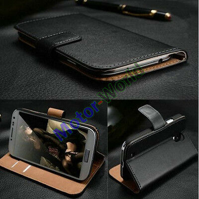 For HTC Mobile Phone Luxury Genuine Real Leather Flip Case Wallet Cover Stand