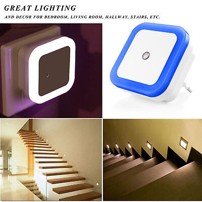 NEW Smart LED Light sensor Lamp Plug-In Electric Energy-Saving Small Night Light