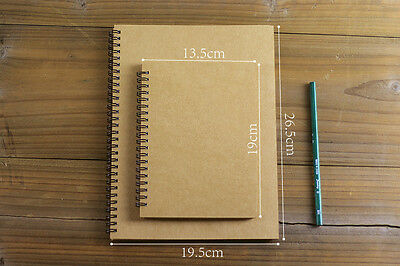 KRAFT Double Spiral Journal Wedding Guest Scrapbook Album / Sketch Book Notebook